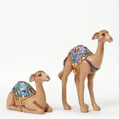 New Enesco Figurine, Set/2 Mini Camels, Nativity