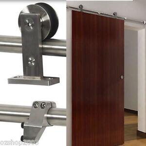 Modern Stainless Steel Sliding Barn Door Hardware Track SET EBay