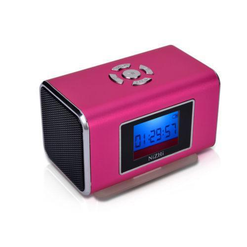 pink alarm clock radio ebay. Black Bedroom Furniture Sets. Home Design Ideas