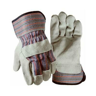 Leather-palm Work Gloves Suede Cowhide Mens L