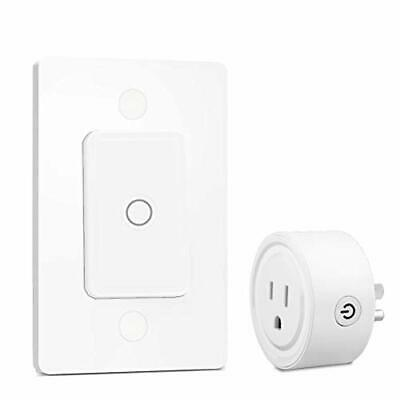 LoraTap Mini Remote Control Outlet Plug Adapter with Remote Wall Switch 656ft...