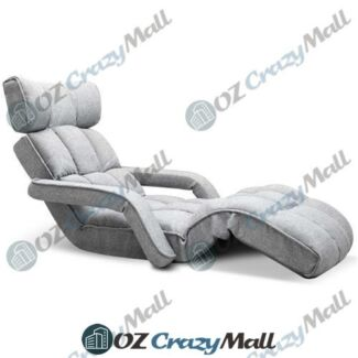 Single Size Linen Fabric Adjustable Lounger Chair