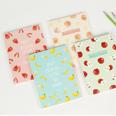 63sheets Cute Sweet Fruit Letter Lined Ruled Writing Stationery Paper Pad Ver.2