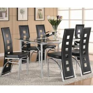 Coaster Furniture 101681 101682 101683 7 Piece Dining Table Set With Red And