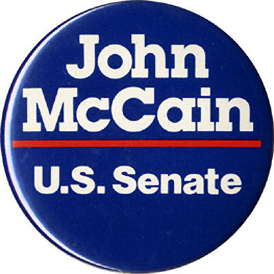 Early John Mccain For U S  Senate Arizona Campaign Button  4499