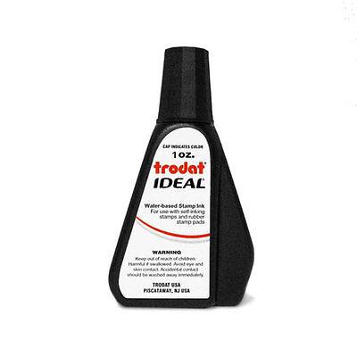 Black Self-inking Stamp Ink Trodat 1 Oz Drip Spout Bottle