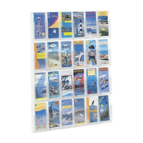 New Safco Products Reveal 24 Pamphlet Display, Brochure Holder, Literature Exhib