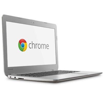 "Toshiba 13.3"" Chromebook Intel Dual-Core 2GB RAM 16GB SSD Google Ultrabook Net"