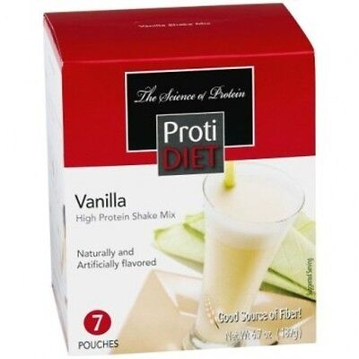 ProtiDiet- High Protein Diet Shake | Vanilla | Low Calorie, Low Fat, 7/Box