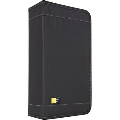 Case Logic 92 Capacity Cd Wallet - Book Fold - Nylon - Black - 92 Cd/dvd - Case Logic Cdw 92 Nylon