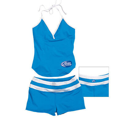 Bud Light  2 Piece Tankini Made of Polyester & Spandex Free Shipping in - Bud Light Made