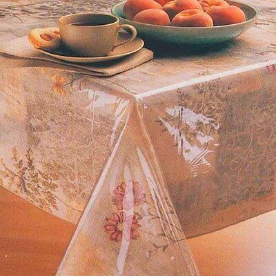"""Carnation Home Fashions 54"""" Square Vinyl Tablecloth Protector C-54/SQ NEW"""
