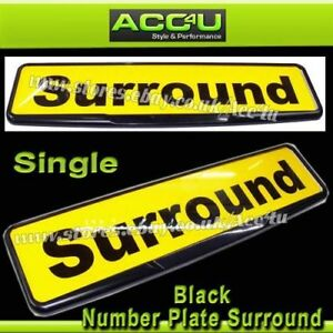 Quality-Black-Car-License-Registration-Number-Plate-Single-Surround-Frame-Holder
