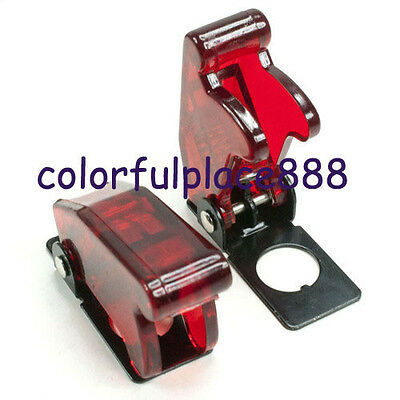 2pcs Red Safety Flip Cover For Toggle Switch