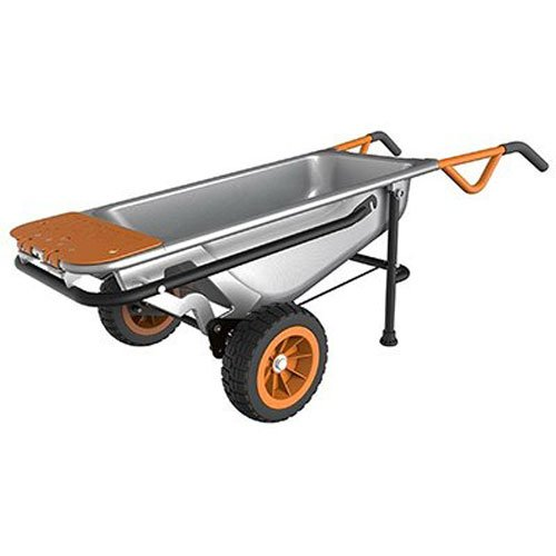 Worx Aerocart Multifunction 2-Wheeled Yard Cart, Dolly, and