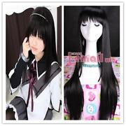 Long Black Cosplay Wig