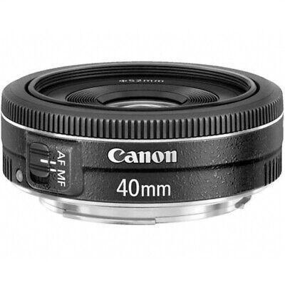 New Canon EF 40mm f/2.8 STM Pancake Lens Black - Bulk