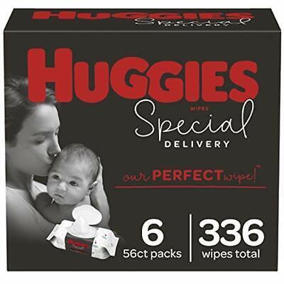 Huggies Special Delivery Hypoallergenic Baby Wipes, (6 Flip-Top Packs)
