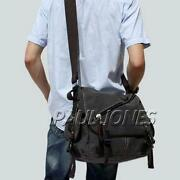 Mens Shoulder Bags Canvas Black