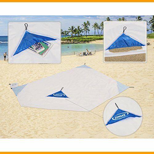 Zomake Lightweight Waterproof Compact Outdoor Beach Blanket Tarp Packable  73X56 Home & Garden