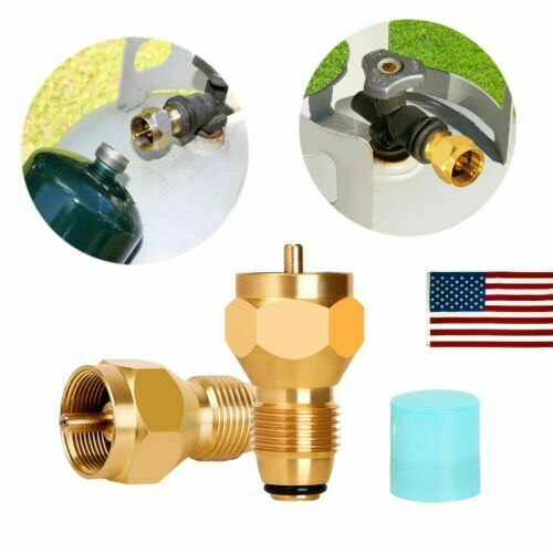Outdoor Camping Stove Gas Refill Adapter Butane Propane Canister Connector XS