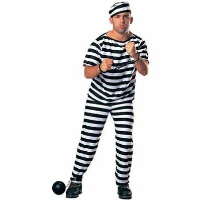 Herren Erwachsene Gefangener Gefängnis Überführen Criminal Kostüm - Gefangene Outfits