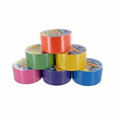 Bazic Fluorescent Colored Duct Tape Assorted Colors Pk of 6 1.89