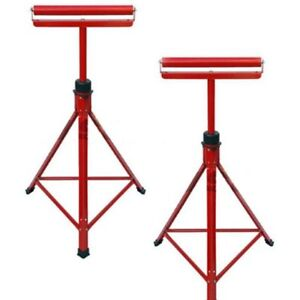 2 X METAL ROLLER STANDS REST WOODWORKING 27