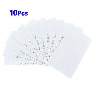 125Khz Door Entry Access Proximity RFID Card Wht 10 Pcs LW SZUS