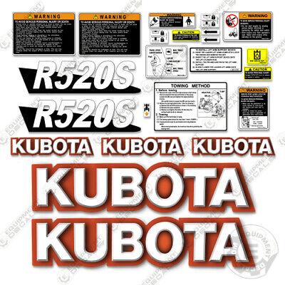 Kubota R530s Decals Wheel Loader Replacement Decals - 3m Vinyl
