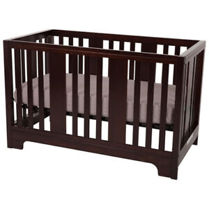 Kidiway Zeni Solid Wood 4-in-1 Convertible Crib Espresso New in