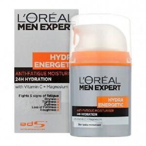 LOREAL MEN EXPERT HYDRA ENERGETIC ANTI-FATIGUE MOISTURISER  50ml FULL SIZE