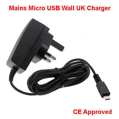 CE Micro USB Mains Charger Wall Plug Adapter For Various Mobile Phone Models