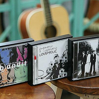 BLACK Wooden CD Frames Home Interior Favorite Album Display Table top Wall mount