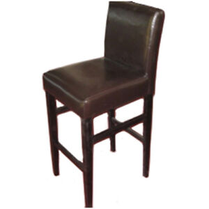 Uber Haus Faux Leather Bar Stool Dark Brown BNIB