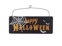 Happy Halloween wooden hanging sign