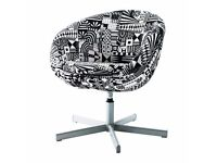IKEA SKRUVSTA - armchair with black white pattern for sale (good as new, no damage).