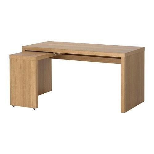 ikea oak desk ebay. Black Bedroom Furniture Sets. Home Design Ideas