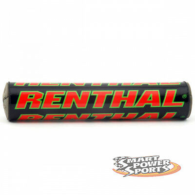 "Renthal SX Bar Pad -BLACK/RED/GREEN- Crossbar Pad -10""- Foam MX Offroad Moto"