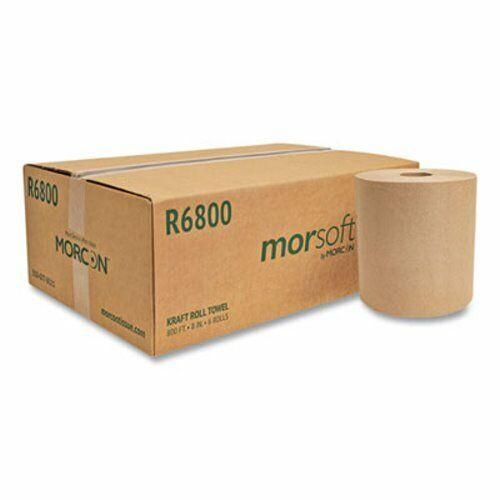 Morcon 800 ft Brown Hard Roll Paper Towels, 6 Rolls (MORR6800)