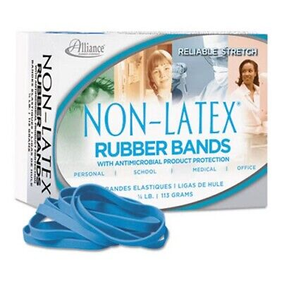 Latex Cyan Blue Antimicrobial Rubber Bands Size 64 14 Lb Box All42649