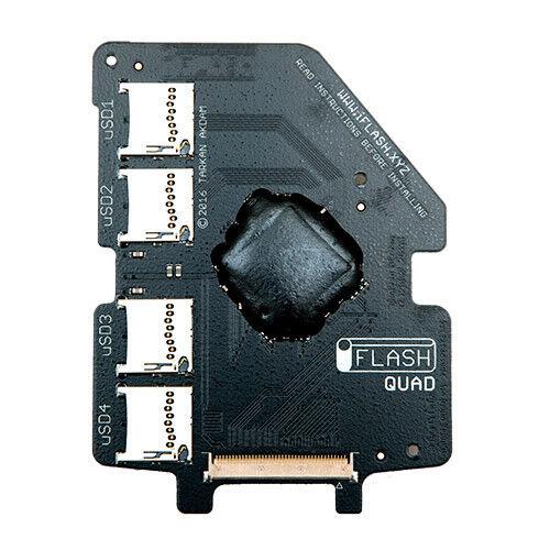 iFlash Quad MicroSD Adapter iPod 5G 6G 7G Video Classic Upto 4x Micro SD