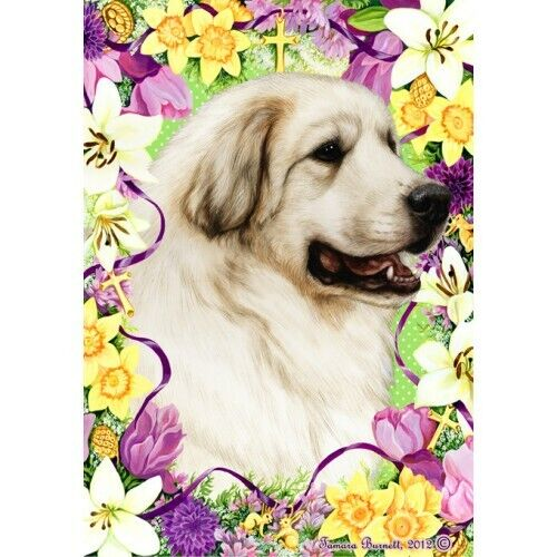 Easter House Flag - Great Pyrenees 33146