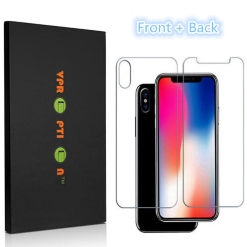 Premium Front & Back Tempered Glass Screen Protector iPhone X XS XR Max 7 8 Plus -   84 - Premium Front & Back Tempered Glass Screen Protector iPhone X XS XR Max 7 8 Plus