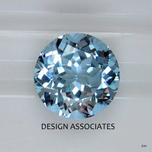 AQUAMARINE 9 MM  ROUND CUT OUTSTANDING BLUE COLOR ALL NATURAL