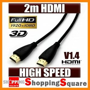 2M-HDMI-Cable-v1-4-High-Speed-Full-HD-1080p-Gold-Plated-HDTV-PS3-XBOX-360-6FT