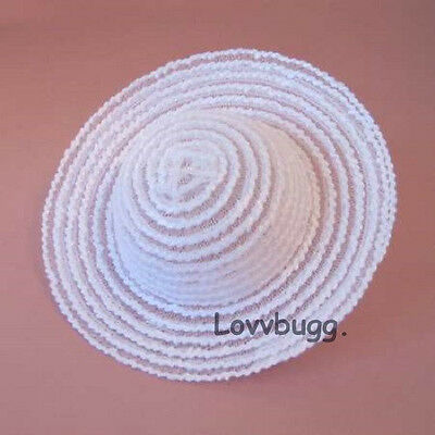 "Lovvbugg White Hat for 18"" American Girl Doll Clothes Accessory"