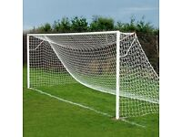 Football goal nets, continental style, full size