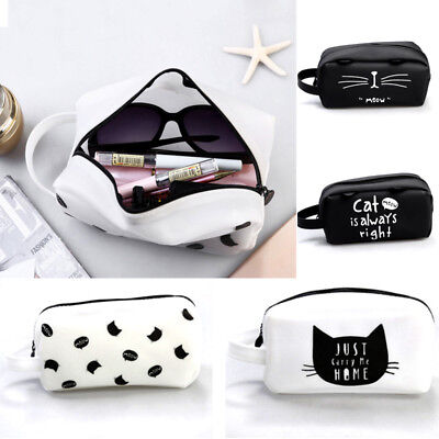 Silicone Cat Makeup Cosmetic Case Pen Pencil Bag Zipper Coin Pouch Purse Sale