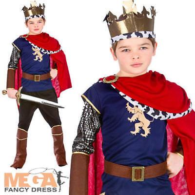 Medieval King Boys Fancy Dress Nativity Royal Renaissance Kids Childrens Costume (Childrens King Costume Nativity)